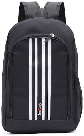 LeeRooy Black Canvas Laptop backpack