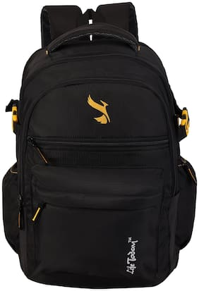 Life Today Black Polyester Backpack