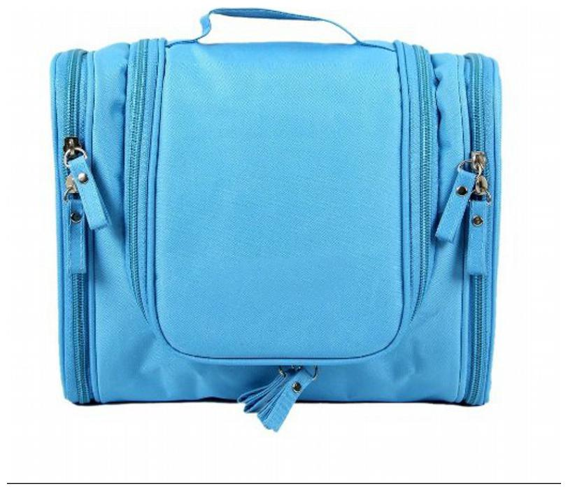 LIGHT BLUE Multipurpose Travel Organizer Bag for Cosmetic Shaving Kit Accessories Toiletries by Swadec