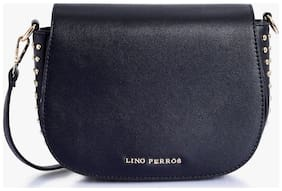Lino Perros Women Solid Leather - Sling bag Multi