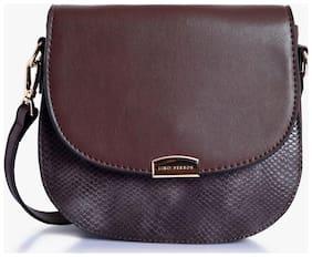 Lino Peros Brown Sling bag