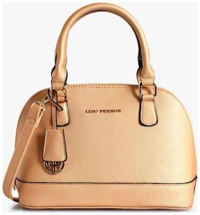 Lino Perros Synthetic Women Handheld bag - Yellow