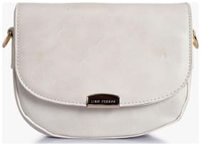 Lino Peros White Sling bag