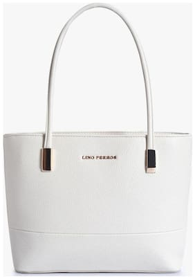 Lino Perros Synthetic Women Handheld bag - White