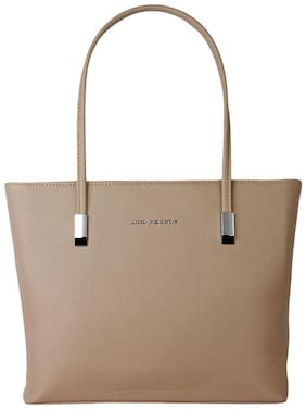 Lino Perros Faux Leather Women Handheld bag - Beige