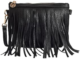 Lino Perros Black Coloured Sling Bag