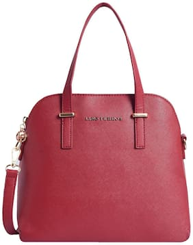 Lino Perros Faux Leather Women Handheld bag - Red