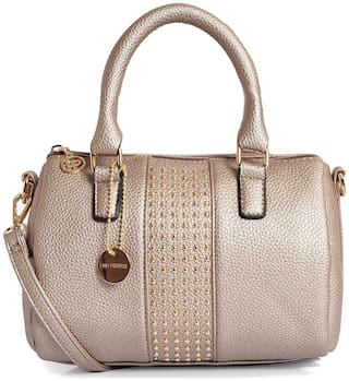 Lino Perros Women Faux Leather Satchel - Gold