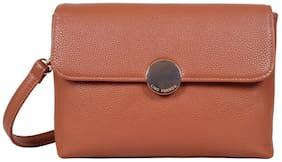 Lino Perros Tan Leatherite Sling Bag