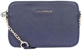 Lino Perros Blue Leatherite Sling Bag