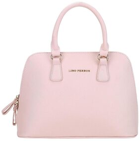 Lino Perros Women Faux Leather Satchel - Pink