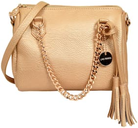 Lino Perros Golden Coloured Satchel Bag