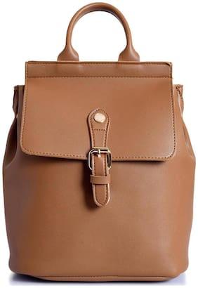 Lino Perros Women Faux Leather Shoulder Bag - Brown