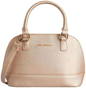 Lino Perros Faux Leather Women Satchel - Gold