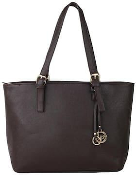 Lino Perros Faux Leather Women Handheld bag - Brown