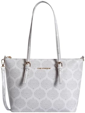 Lino Perros Women Faux Leather Shoulder Bag - White
