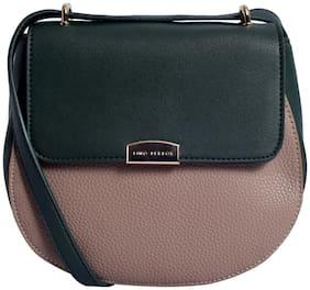 Lino Perros Womens Green-beige Sling bag