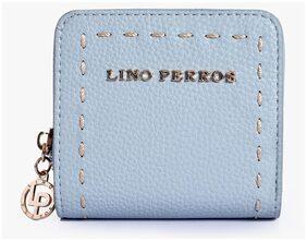 Lino Perros Women Faux Leather Wallet - Blue