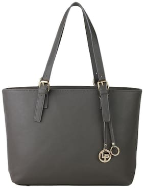 Lino Perros Faux Leather Women Handheld bag - Grey