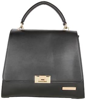 Lino Perros Women Solid Leather - Sling bag Black
