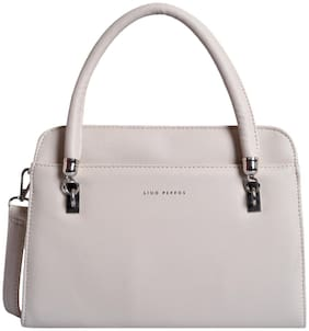 Lino Perros Faux Leather Women Handheld bag - White