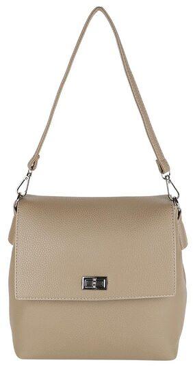 Lino Perros Women Leather Sling Bag - Beige