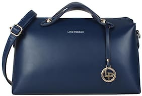 Lino Perros Faux Leather Women Handheld bag - Blue