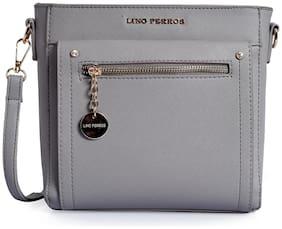 Lino Perros Grey Coloured Sling Bag