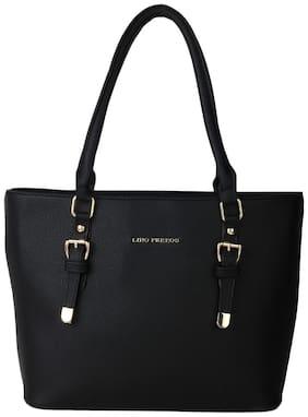 Lino Perros Faux Leather Women Handheld bag - Black