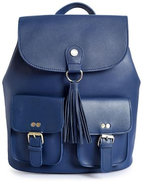 Lino Perros Blue Leather Backpack