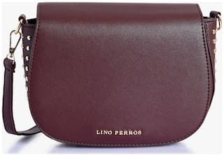 Lino Perros Brown Coloured Sling Bag