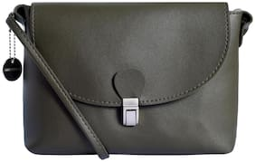 Lino Perros Women Faux Leather Shoulder Bag - Green
