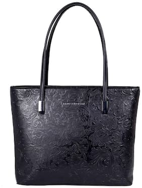 Lino Perros Faux Leather Women Handheld bag - Black