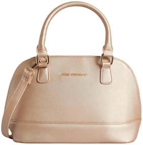 Lino Perros Faux Leather Women Handheld bag - Gold