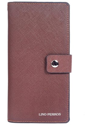Lino Perros Women Faux Leather Wallet - Brown