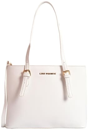 Lino Perros Faux Leather Women Shoulder bag - White