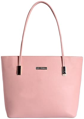 Lino Perros Women Faux Leather Handheld Bag - Pink