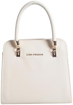 Lino Perros Faux Leather Women Handheld bag - White