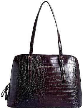 Lino Perros Faux Leather Women Handheld bag - Brown