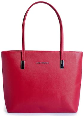 Lino Perros Faux Leather Women Shoulder bag - Red