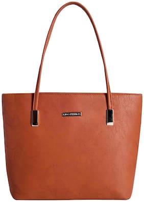 Lino Perros Women Faux Leather Handheld Bag - Tan