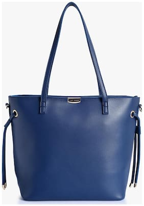Lino Perros Faux Leather Women Shoulder bag - Blue