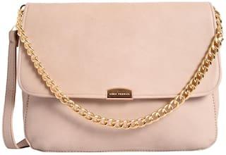 Lino Perros Faux Leather Women Handheld bag - Beige