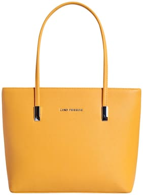 Lino Perros Womens Yellow Handbag