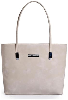Lino Perros Women Faux Leather Shoulder Bag - Beige