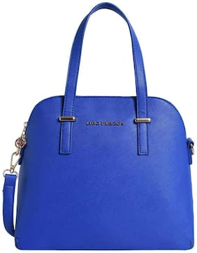 Lino Perros Faux Leather Women Handheld bag - Blue