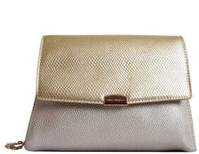Lino Perros Women Solid Faux Leather - Sling Bag Gold