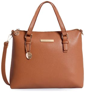 Lino Perros Women Solid Leather - Sling bag Tan