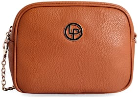 Lino Perros Womens Tan Sling bag