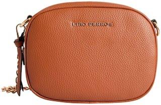 Lino Perros Womens Tan Sling bag